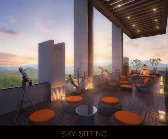 Sky sitting